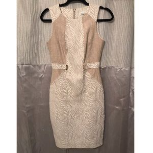 Tan Calvin Klein dress